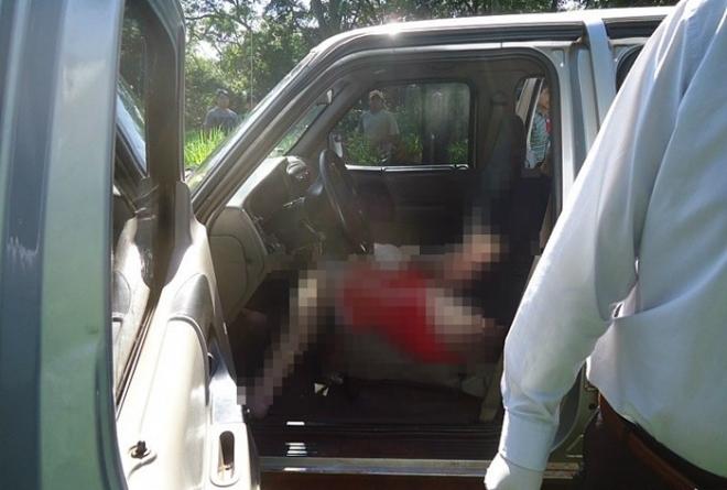 A vítima levou tiro abaixo do queixo.