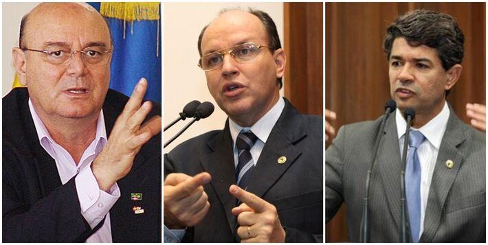 Laerte Tetila (PT), Junior Mochi (PMDB) e Rinaldo Modesto (PSDB)<br />Foto: Divulgação