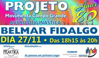O evento será realizado na Praça Esportiva Belmar Fidalgo das 18h às 20h e conta com o apoio da Academia Pratika na realização das atividades.