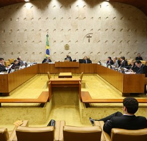 Ministros do Supremo durante a sessão que determinou execução imediata das penas dos réus<br />Foto: Dida Sampaio/Estadão