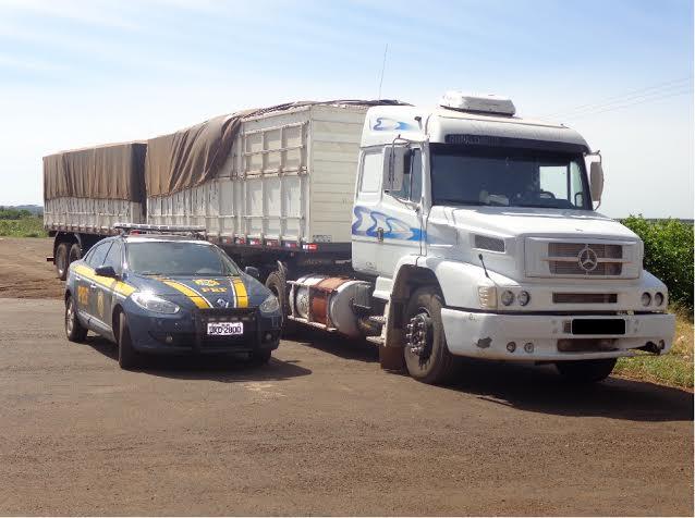 Veículo Mercedes Benz/LS apreendido pela PRF<br />Foto: Divulgação