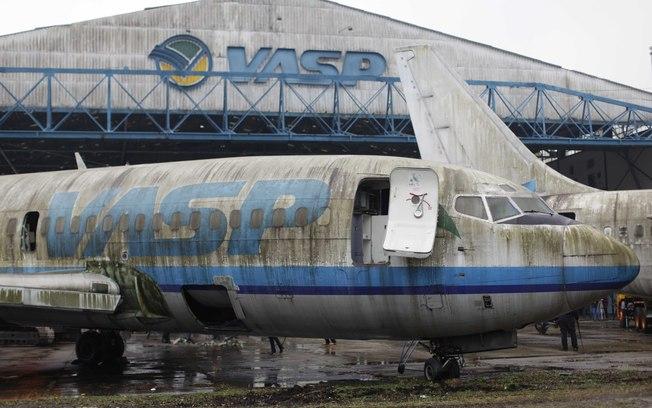 Aviões sucateados da empresa Vasp<br />Foto: Divulgação