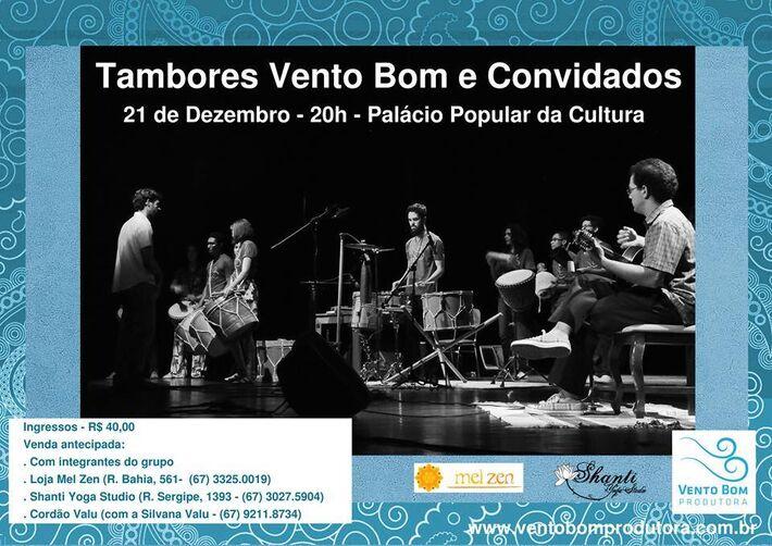 Grupo Tambores Vento Bom<br />Foto: Divulgação