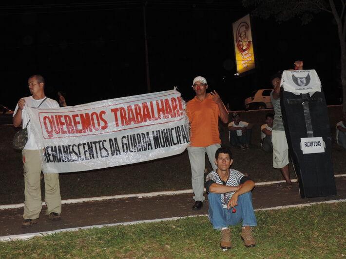 Protesto dos aprovados no concurso da guarda municipal<br />Foto: Klemerson Rocha