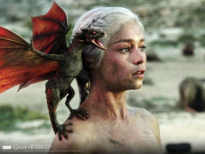 A personagem Daenerys Targaryen<br />Foto: Divulgação/HBO