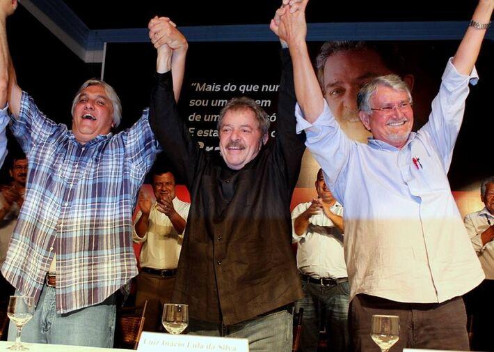 Delcídio, Lula e Zeca do PT