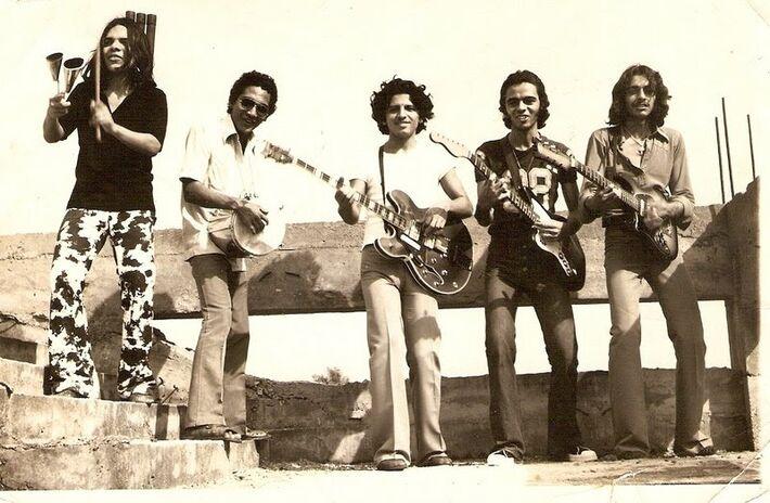 Ed, Geraldo, Paulo Cabuloso, Valdno e Juvenal, no MJ6<br />Foto: Divulgação
