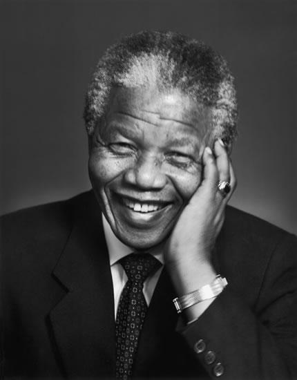 Nelson Mandela, líder rebelde e presidente da África do Sul.<br />Foto: Divulgação