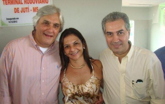 A prefeita Bel com o senador Delcídio do Amaral e o deputado federal Reinaldo Azambuja<br />Foto: Divulgação