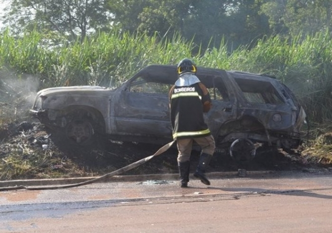O motorista do carro foi socorrido e encaminhado para o hospital de Coxim.