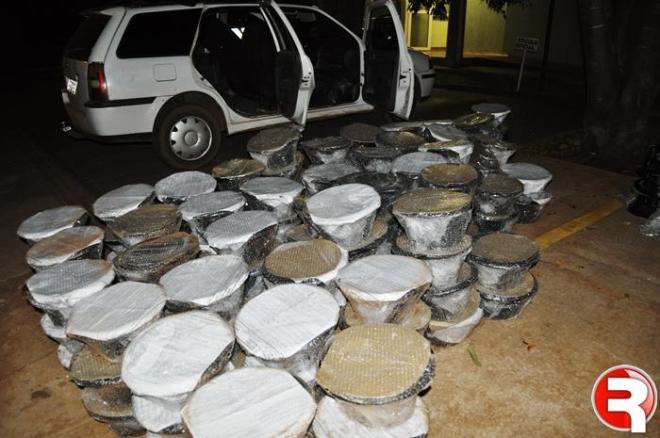 Policia Militar apreende mais de R$ 35 mil em autofalantes contrabandeados do Paraguai