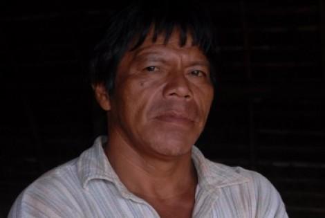 O cacique Ambrósio Vilhalva que foi assassinado na madrugada de hoje, na aldeia Guariroká, no distrito de Cristalina, município de Caarapó