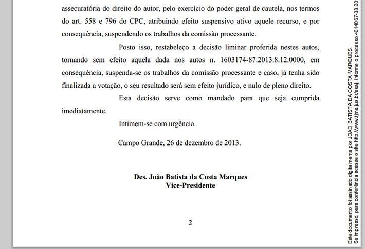 """</p> <p style=""""text-align: justify"""">O vereador Alex do PT informou que o prefeito Alcides Bernal (PP) conseguiu nova liminar para suspender a sessão de julgamento que pode cassar o mandato do chefe do executivo.</p> <p style=""""text-align: justify"""">A dec"""
