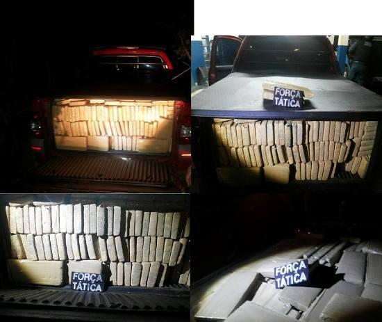 Policiais da Polícia Militar de Caarapó, a 267 km de Campo Grande, apreenderam por volta das 02h desta madrugada, dois veículos carregados com 2340 tabletes de maconha. Um homem foi preso. A operação contou com o apoio da Força Tática do 3º BPM.  Se