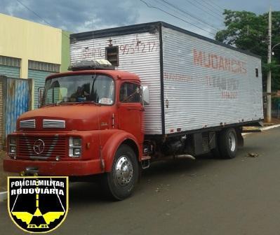 Um caminhão baú Mercedes Benz que foi roubado na manhã de ontem em Nova Andradina - distante 297 km de Campo Grande - foi recuperado por policiais militares rodoviários da Base Operacional de Amandina.  Segundo a PM, o veículo teria sido roubado no