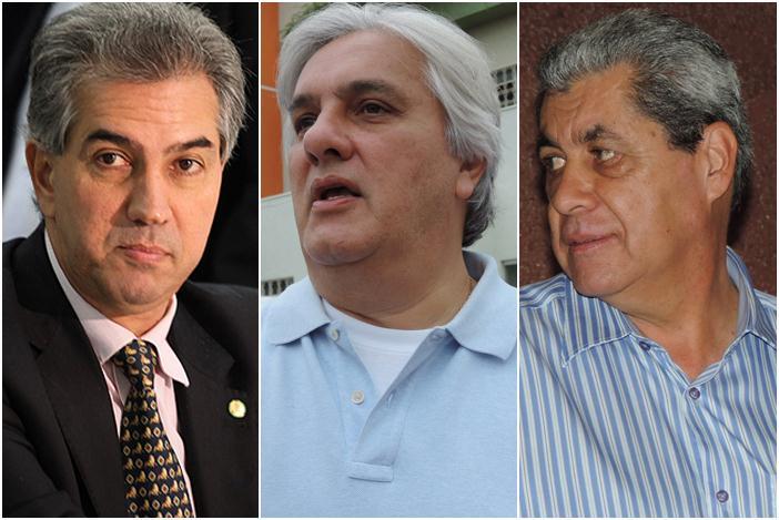 Reinaldo Azambuja (PSDB), Delcídio do Amaral (PT) e André Puccinelli (PMDB)<br />Foto: Reprodução