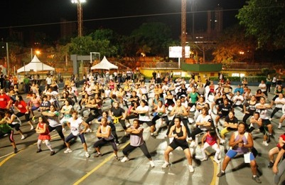 Aula de ginástica na praça Belmar Fidalgo<br />Foto: Divulgação