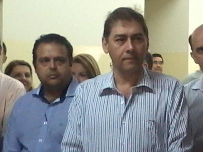 Secretário Ivandro Fonseca e prefeito Alcides Bernal (PP)<br />Foto: Klemerson Rocha