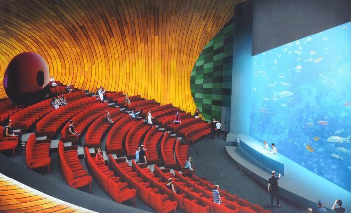 Projeto mostra auditório do Aquário do Pantanal<br />Foto: Diana Christie