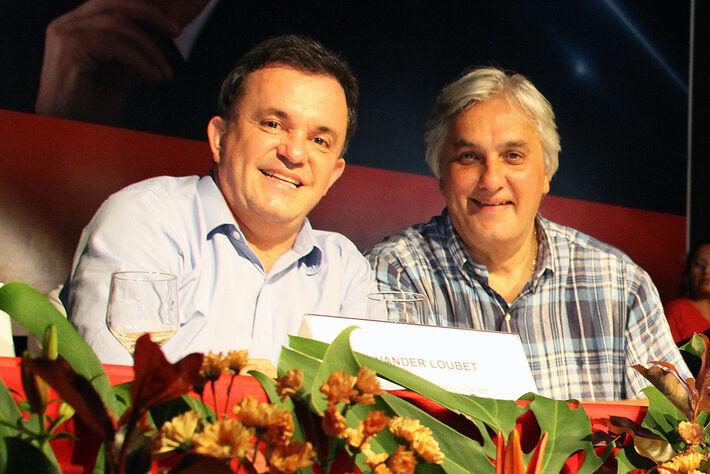 Deputado Federal Vander Loubet (PT) e senador Delcídio do Amaral (PT)<br />Foto: Reprodução