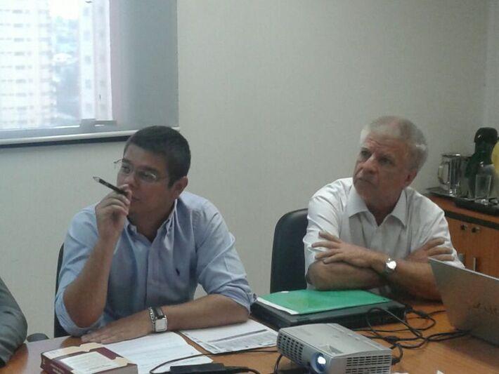 Vereadores Otávio Trad (PT do B) e Edil Albuquerque (PMDB). Foto: Clayton Neves