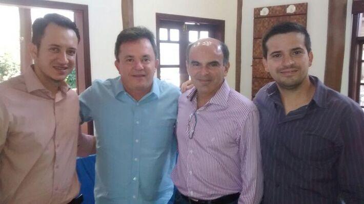 Vice-prefeito de Paranaiba, Fredson Freitas (PSDB), deputado federal Vander Loubet (PT), secretário de governo Dr. Andrew Rodalinho e secretário do Meio Ambiente Lincoln Queirós