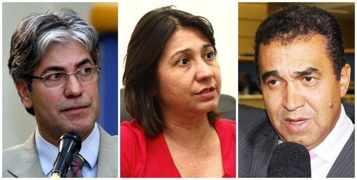 Vereadores Alex do PT, Luiza Ribeiro (PPS) e Ayrton Araújo (PT)<br />Foto: Reprodução