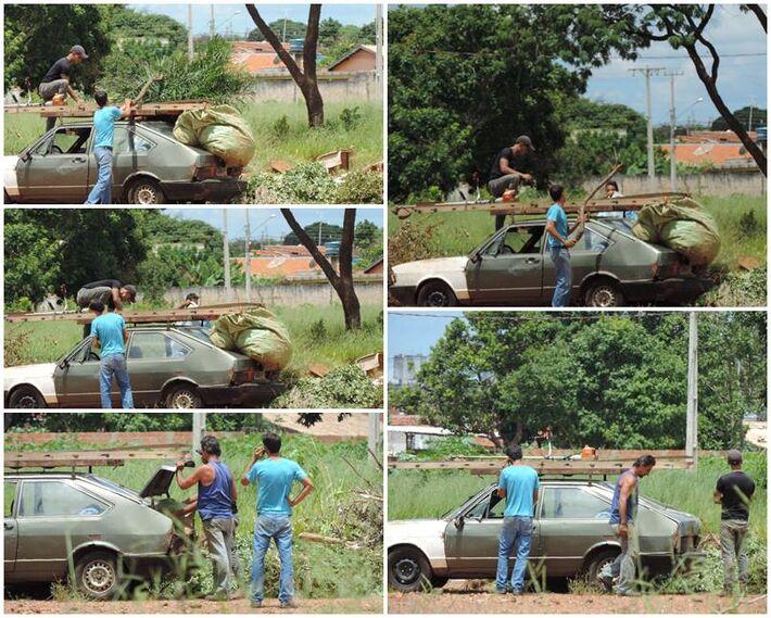 Flagrante da população depositando lixo no local<br />Fotos: Klemerson Rocha