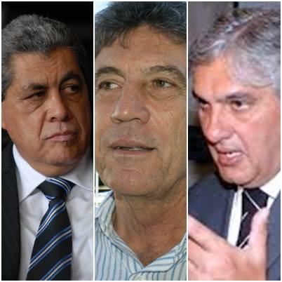 André Puccinelli (PMDB), Muriolo Zauith (PSB) e Delcídio do Amaral (PT)