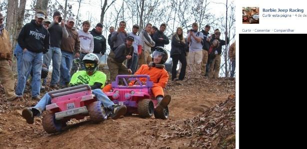 Foto: Reprodução/Facebook do Barbie Jeep Racing
