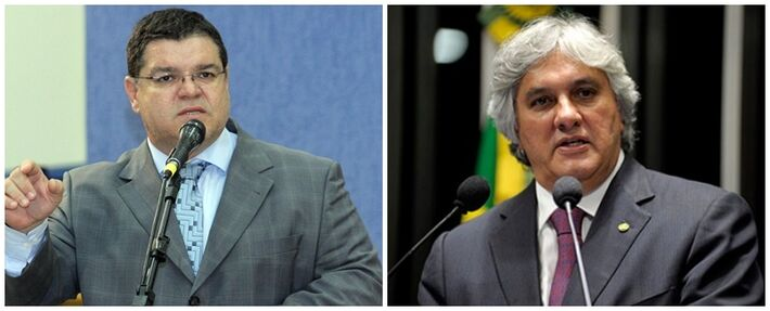 Vereador Paulo Pedra (PDT) e senador Delcídio do Amaral (PT)<br />Foto: Reprodução