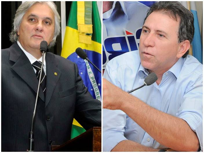 Senador Delcídio do Amaral e secretário Edson Girotto<br />Foto: Arquivo