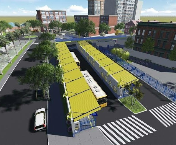 Projeto das estações leste e oeste que serão construídas dentro do novo sistema de transporte público de Dourados<br />Foto: Dourados News