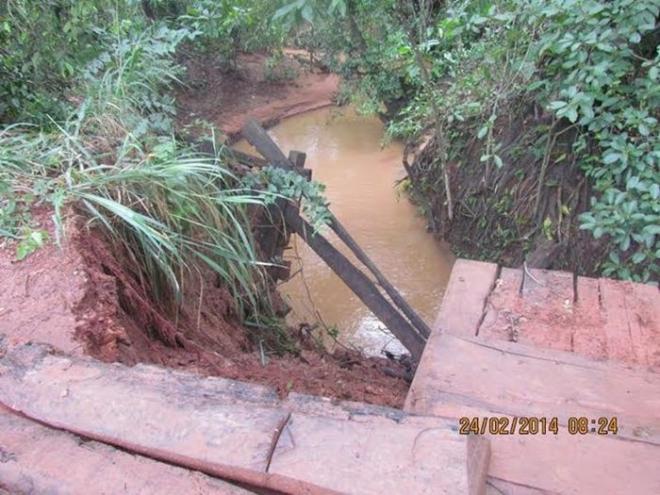 Fortes chuvas deixam Rio Verde de Mato Grosso em estado de alerta<br />Foto: Divulgação