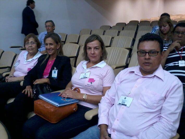 A equipe da ACCGD conversou com alguns deputados que se comprometeram em criar uma emenda coletiva para ajudar na ampliação da Rede Feminina de Combate ao Câncer (Foto: Dany Nascimento)