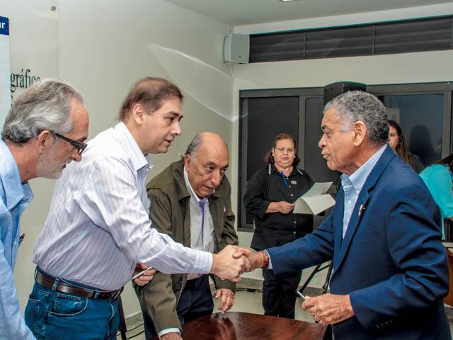 Assinatura convênio do Propam<br />Foto: Marcelo Calazans