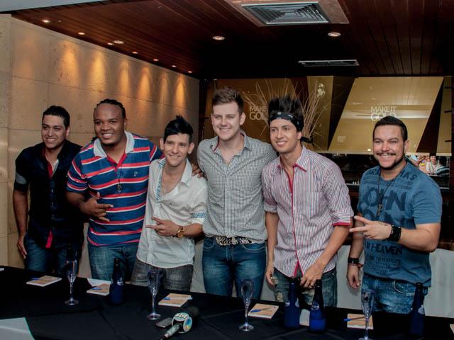 Grupo Tradição em apresentação à imprensa<br />Foto: Marcelo Calazans