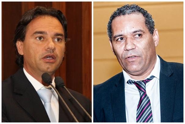 Deputado Marquinhos Trad (PMDB) e vereador Chiquinho Telles (PSD)<br />Foto: Divulgação e Marcelo Calazans