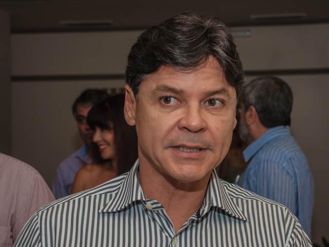 Presidente regional do PT e prefeito de Corumbá, Paulo Duarte, durante evento de comemoração dos 34 anos do partido.<br />Foto: Marcelo Calazans