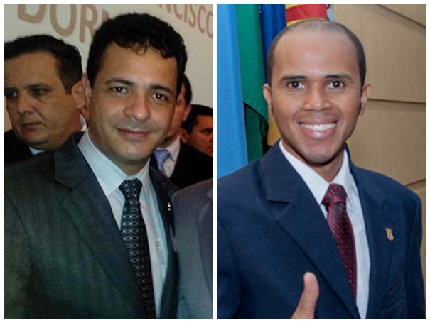 Vereadores Cazuza (PP) e Chocolate (PP)<br />Foto: Reprodução/Marcelo Calazans