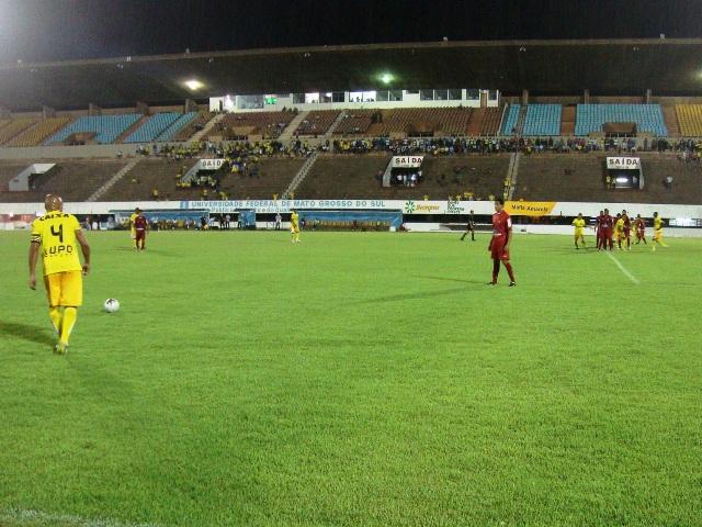 Equipe do Cene vacilou e está fora da Copa Verde<br />Foto: MS Esporte Clube