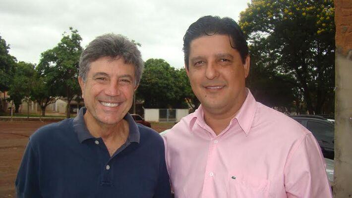 Leo Matos com o prefeito de Dourados Murilo Zauith