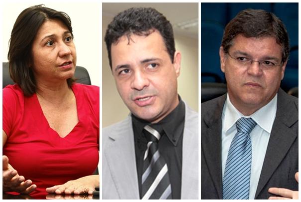 Vereadores Luiza Ribeiro (PPS), Cazuza (PP) e Paulo Pedra (PDT)<br />Foto: Reprodução/Marcelo Calazans