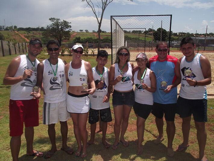 Medalhistas do Beach Team<br />Foto: Assessoria