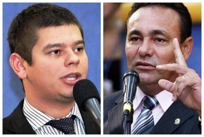 Vereadores Otávio Trad (PT do B) e Carlão (PSB)<br />Foto: Reprodução