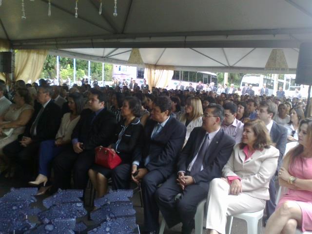 Público presente na comemoração do aniversário da Acadepol<br />Foto: Tayná Biazus