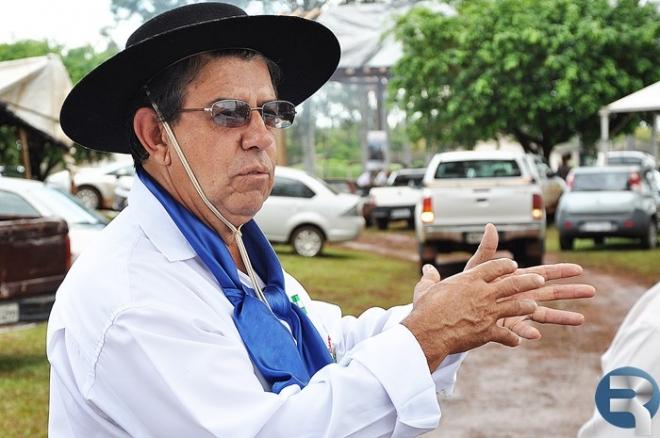 Alberi de Abreu, patrão do Centro de Tradições Gaúchas do municipio de Sidrolândia<br />Foto: Paula Lúcia/Região News