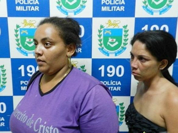 Após serem presas por tráfico, uma das mulheres confessou ter deixado filhos em casa<br />Foto: Região News