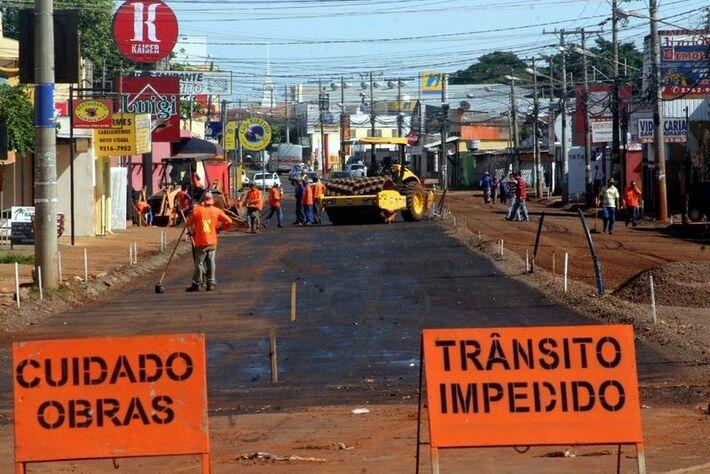 Início das obras da Avenida Júlio de Castilho<br />Foto: Reprodução
