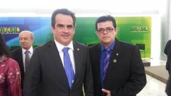 Senador Ciro Nogueira, presidente nacional do PP, e prefeito de Campo Grande Gilmar Olarte (PP)<br />Foto: Assessoria PMCG